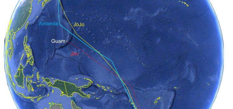 Satellites track 3 Kuriri across the Pacific