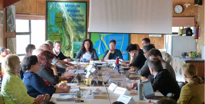 Hauraki Gulf Forum meeting at the Shorebird Centre